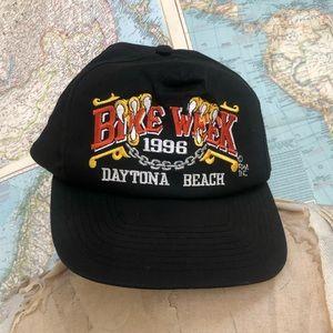Vintage Bike Week hat Daytona 1996 Harley Davidson